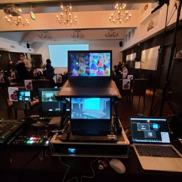 パシフィックハーバーでハイブリッド型イベントの配信業務を行いました